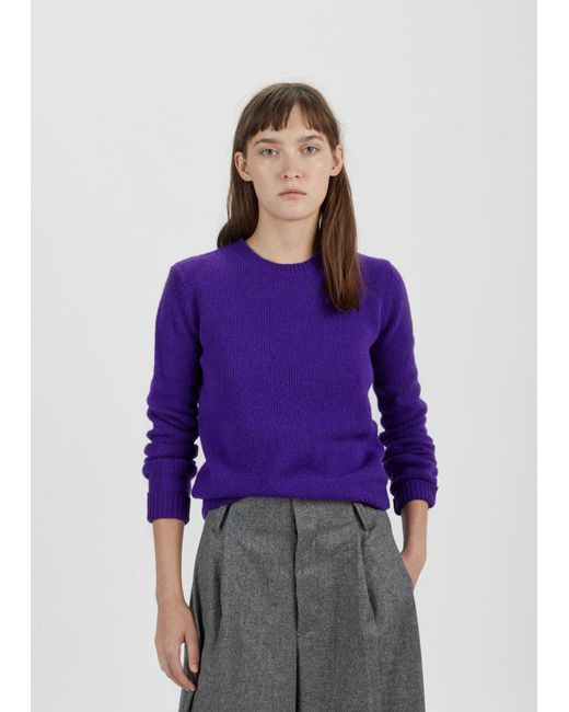 Acne Siw Wool Sweater in Purple | Lyst