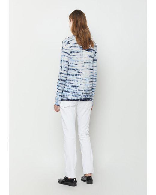 proenza schouler long sleeve tie dye tissue t shirt in blue lyst. Black Bedroom Furniture Sets. Home Design Ideas