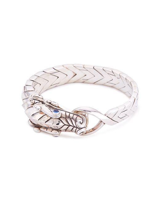 John Hardy Metallic Sapphire Silver Naga Bangle for men