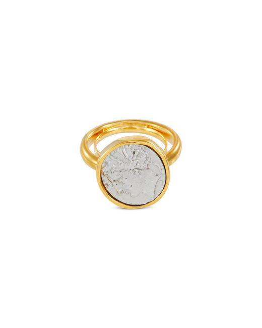 Kenneth Jay Lane Metallic Coin Charm Ring