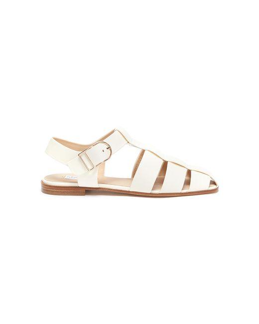 Gabriela Hearst White Lynn' Leather Fisherman Sandals