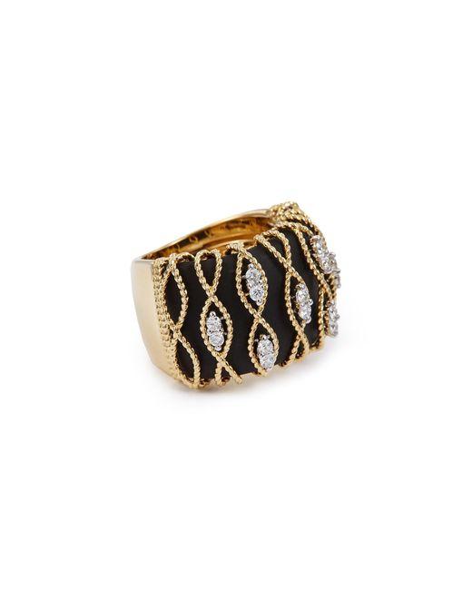 Roberto Coin - Metallic 'barocco' Diamond 18k Yellow Gold Ring - Lyst
