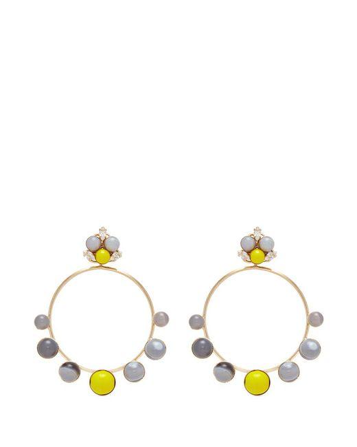 Anton Heunis - Multicolor 'amy 3.09' Swarovski Crystal Agate Detachable Hoop Earrings - Lyst