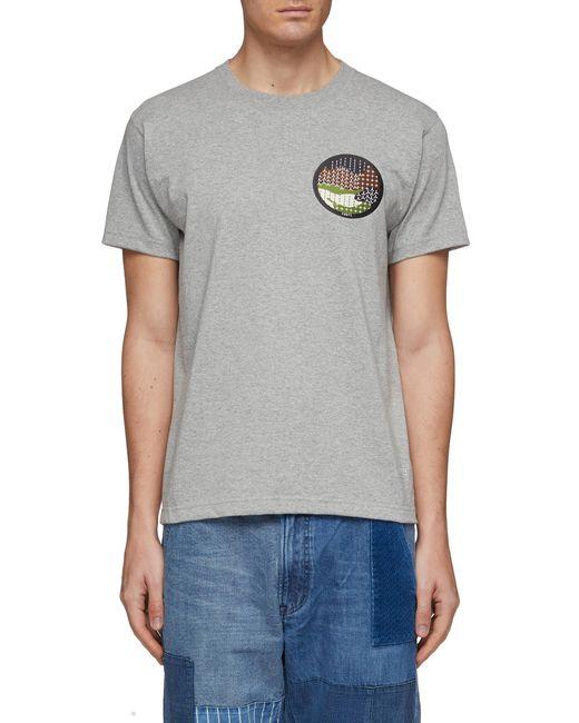 FDMTL Gray Sashiko Patch T-shirt for men