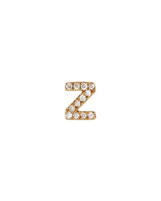 Loquet London - Metallic Diamond 18k Yellow Gold Letter Charm – Z - Lyst