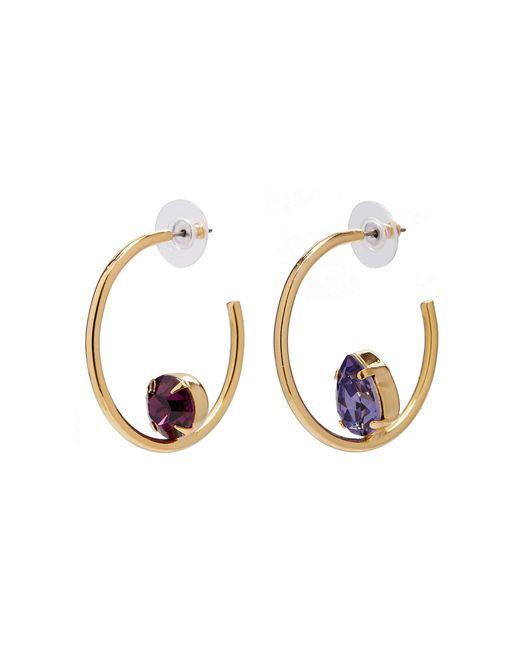 Joomi Lim - Metallic 'gem Fatale' Swarovski Crystal Mismatched Hoop Earrings - Lyst