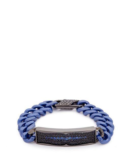 Stephen Webster | Metallic 'rayman' Sapphire Rhodium Silver Ceramic Chain Bracelet | Lyst