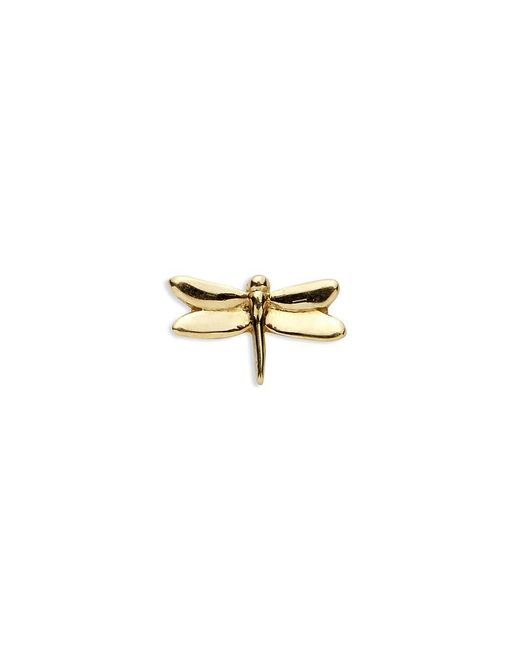Loquet London - Metallic 18k Yellow Gold Dragonfly Charm - Strength - Lyst