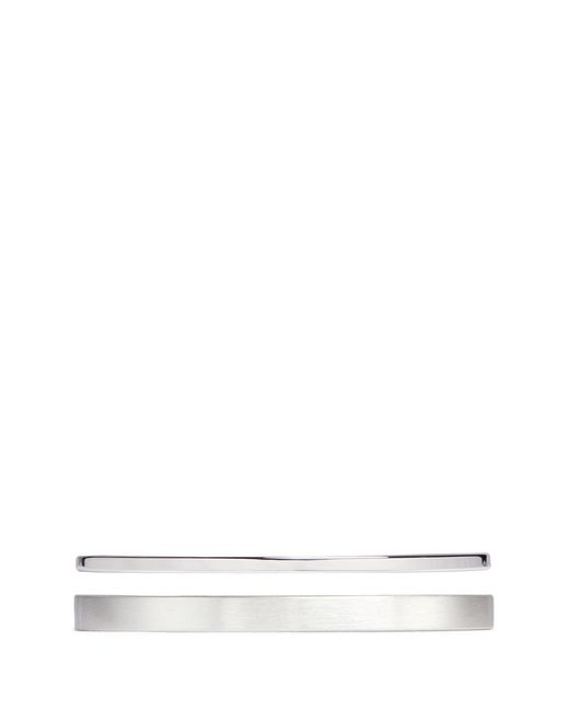 Le Gramme | Metallic 'variation Slick' 15g And 7g Sterling Silver Cuff Set for Men | Lyst