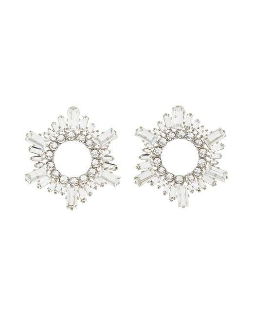 AMINA MUADDI Metallic Begum' Crystal Embellished Mini Disk Earrings