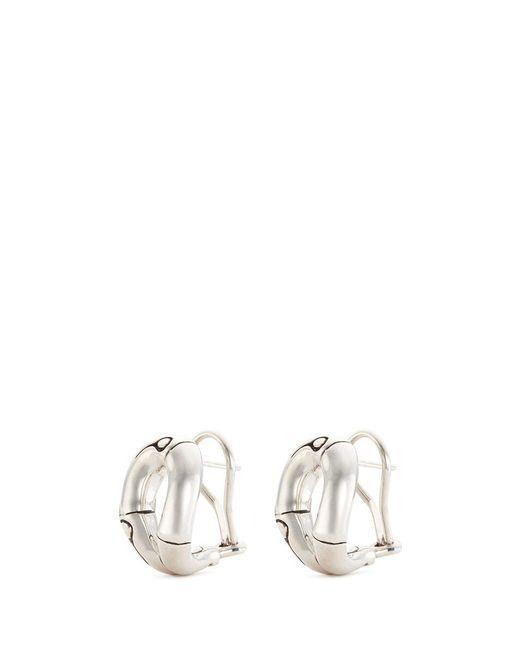 John Hardy | Metallic Silver Bamboo Loop Stud Earrings | Lyst