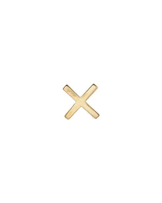 Loquet London - Metallic 'x' 18k Yellow Gold Charm – Send A Kiss - Lyst