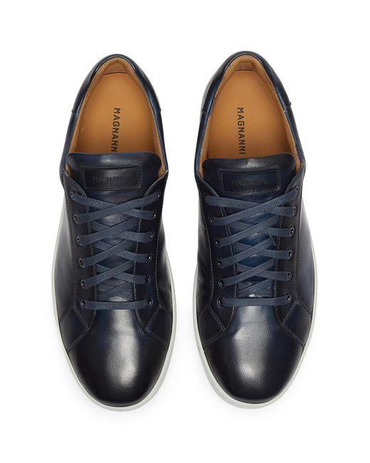 Men's Blue Leather Sneakers
