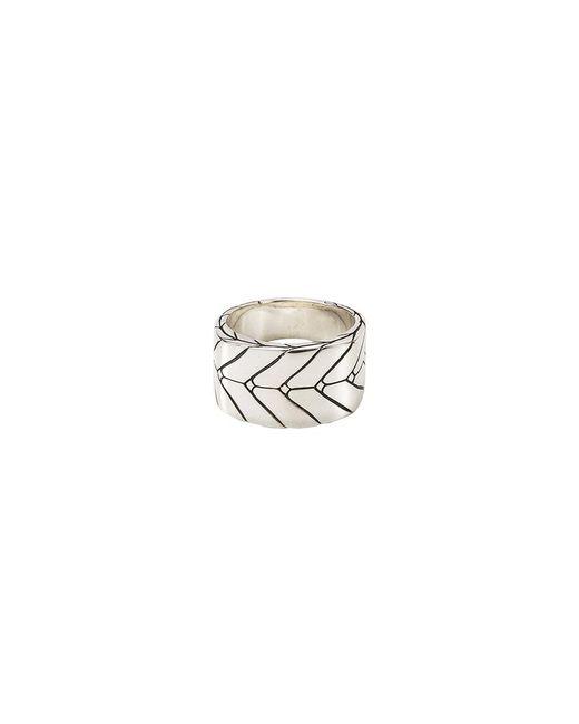 John Hardy - Metallic Silver Weave Effect Ring for Men - Lyst