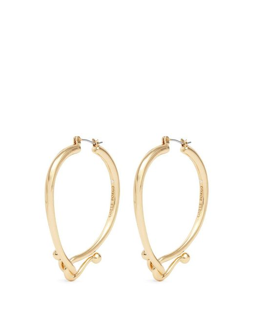 Eddie Borgo | Metallic 'thalia' Interlocking Hook Hoop Earrings | Lyst