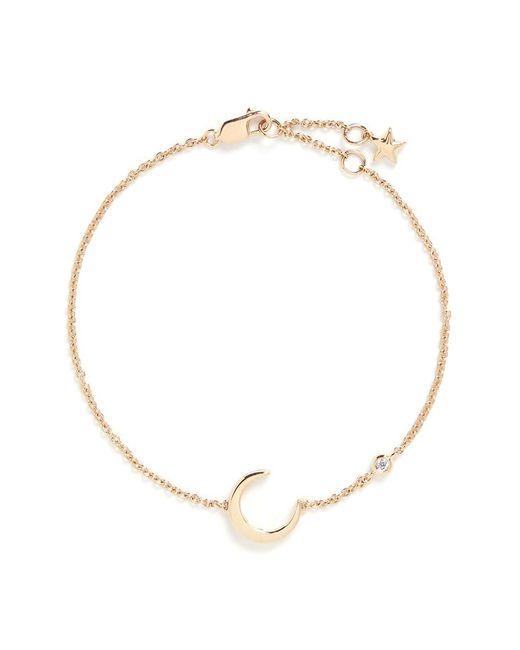 LC COLLECTION | Metallic 'lucky Charm' Diamond 18k Yellow Gold Moon Bracelet | Lyst