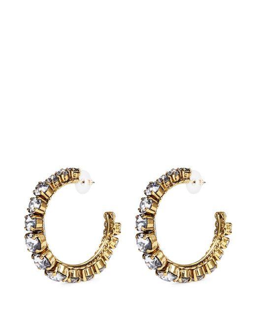 Erickson Beamon   Metallic Swarovski Crystal Hoop Earrings   Lyst