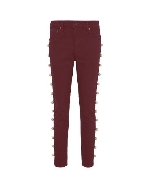 Tu Es Mon Tresor - Red Pearl Outseam Jeans - Lyst