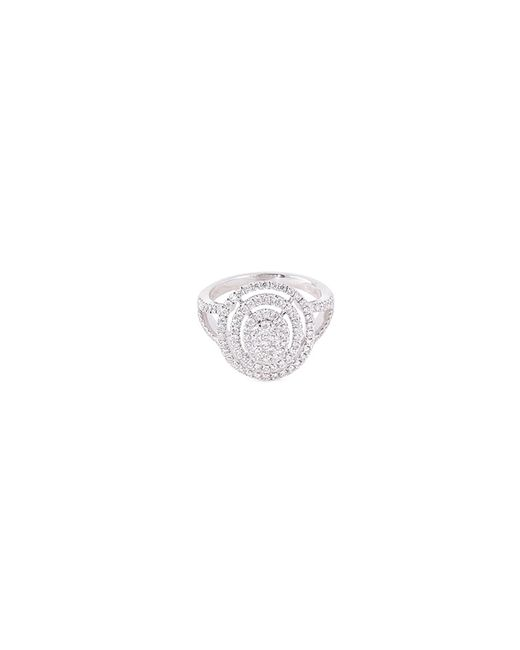 LC COLLECTION Metallic Diamond 18k Gold Circular Cutout Ring