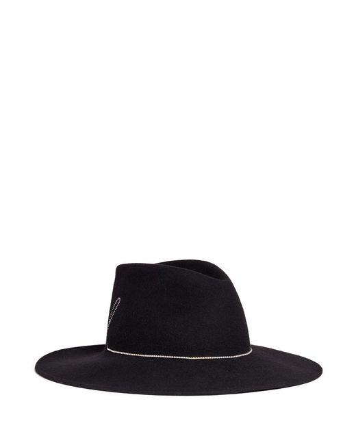 Eugenia Kim   Black 'harlowe' Swarovski Crystal Slogan Wool Felt Hat   Lyst