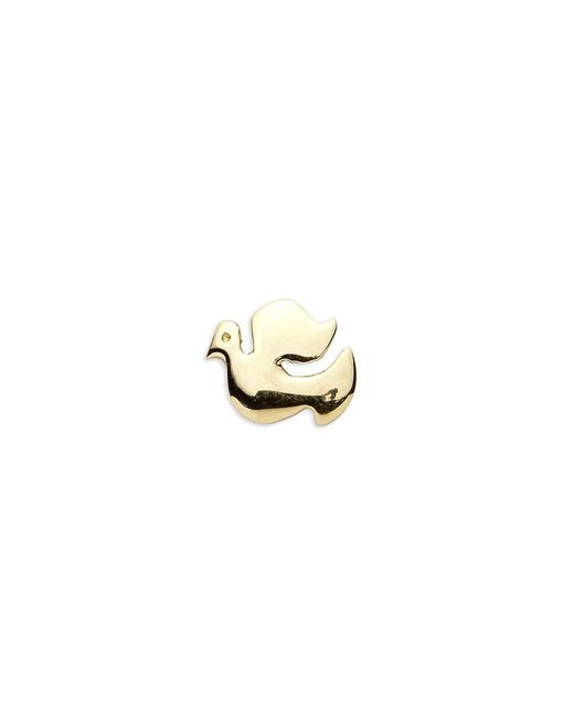 Loquet London | Metallic 18k Yellow Gold Dove Charm - Spread Your Wings | Lyst