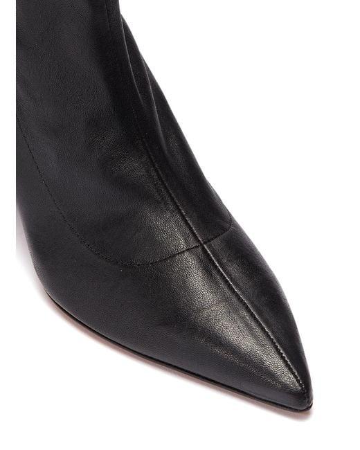 6848b347a2e Women's Black 'alaska' Twist Heel Leather Ankle Boots