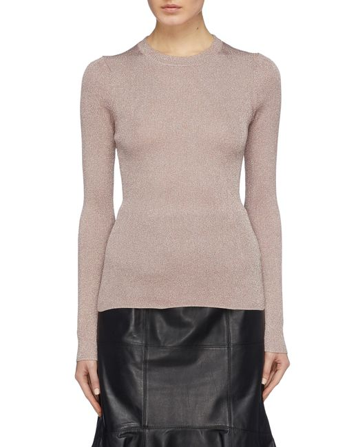 1eac133436dfb 3.1 Phillip Lim - Pink Metallic Rib Knit Sweater - Lyst ...