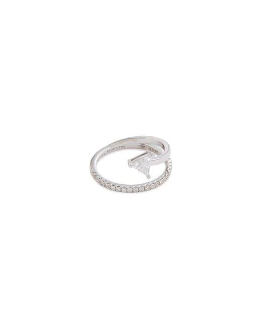 Delfina Delettrez - Metallic 'marry Me' Diamond 18k White Gold Ring - Lyst