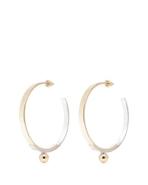 Eddie Borgo | Metallic Layered Plate Hoop Earrings | Lyst