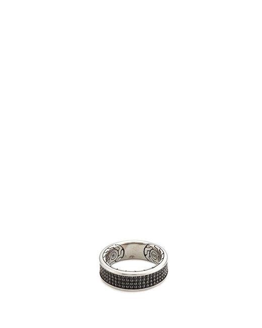 John Hardy | Black Rhodium Silver Dotted Jawan Ring for Men | Lyst