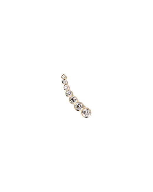 Sophie Bille Brahe - Metallic 'petite Croissant De Lune' Diamond 18k Yellow Single Climber Earring - Lyst