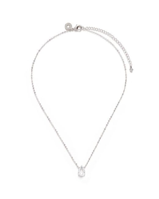 CZ by Kenneth Jay Lane | White Pear Cut Cubic Zirconia Pendant Necklace | Lyst