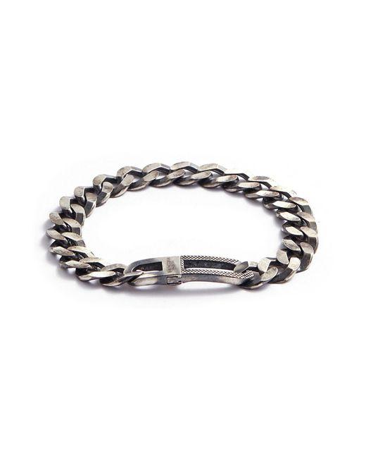 Tateossian - Metallic 'grumette' Silver Curb Chain Bracelet for Men - Lyst