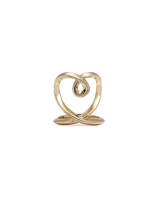 Chloé - Metallic 'heart' Twist Band Ring - Lyst