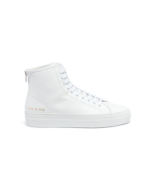 Common Projects - White Tournament High Super Sneakers - Lyst