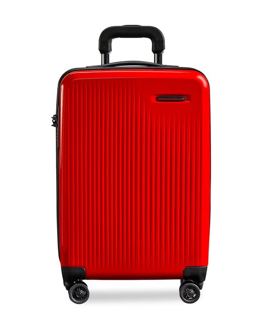 Briggs & Riley Red Sympatico - International Carry-on Expandable Spinner