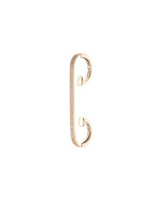 Repossi - Metallic 'staple Small Round' Diamond 18k Rose Gold Ear Cuff - Lyst