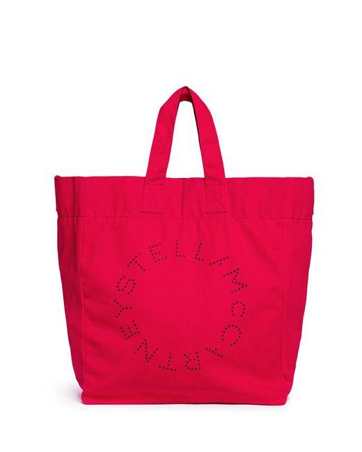 Stella mccartney Logo Printed Beach Tote Bag in Red