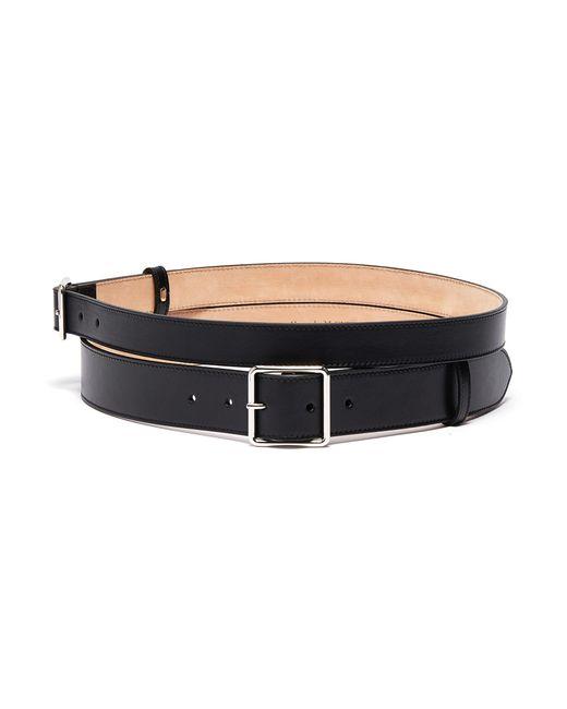 Alexander McQueen Black Double Leather Belt