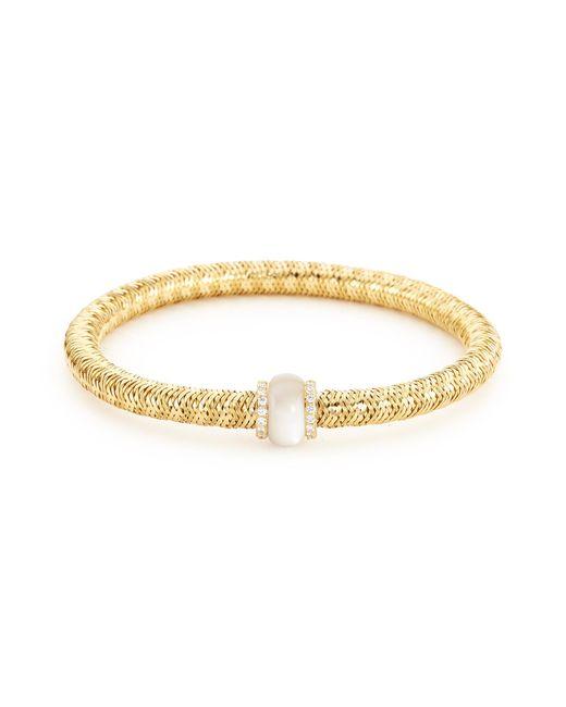 Roberto Coin - Metallic 'primavera' Diamond Mother-of-pearl 18k Yellow Gold Bracelet - Lyst