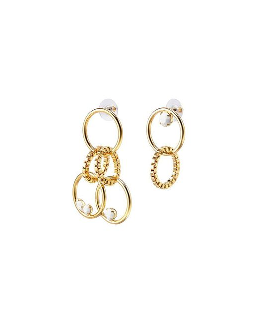Joomi Lim - Metallic 'grandmistress Flash' Mismatched Swarovski Crystal Interlocking Hoop Drop Earrings - Lyst