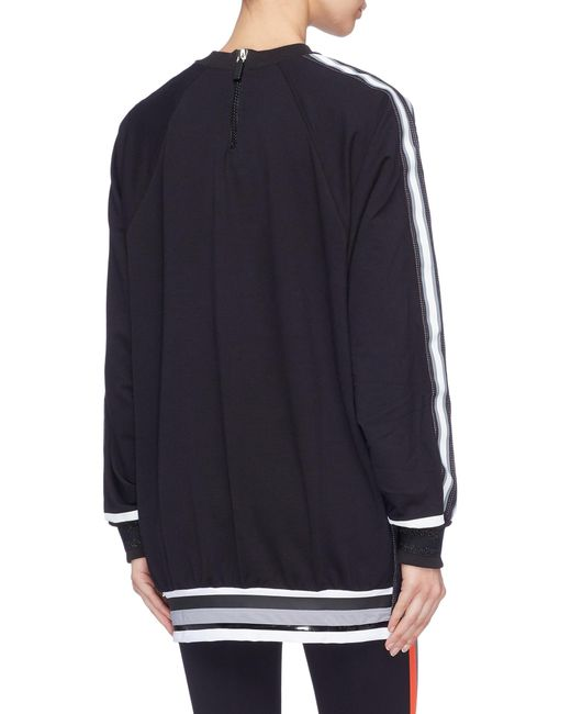 e2234cb36e58 ... No Ka 'oi - Blue 'hau' Stripe Sleeve Raglan Sweatshirt ...