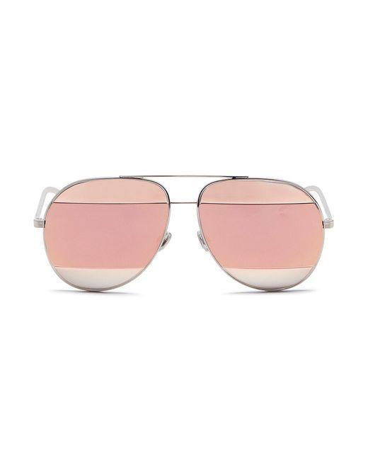 Dior - Pink ' Split 1' Inset Metal Aviator Sunglasses for Men - Lyst