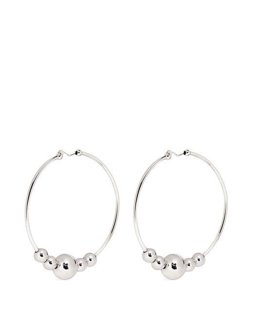 Eddie Borgo | Metallic Large Sphere Hoop Earrings | Lyst