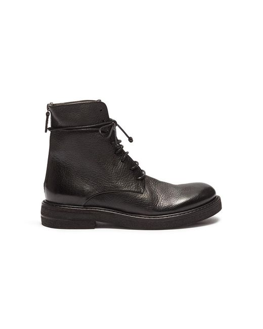 Marsèll - Black 'liesta' Lace-up Leather Ankle Boots - Lyst