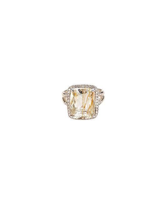 John Hardy - Metallic 'magic Cut' Diamond Rutilated Topaz Silver Ring - Lyst