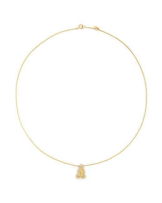 Bao Bao Wan | Metallic 'little Buddha' 18k Gold Diamond Necklace | Lyst