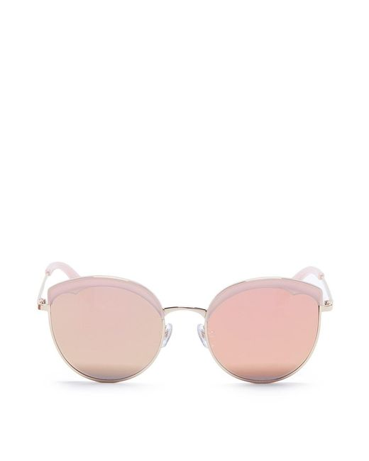 Stephane + Christian   Multicolor 'cotton Candy' Round Cat Eye Mirror Sunglasses   Lyst