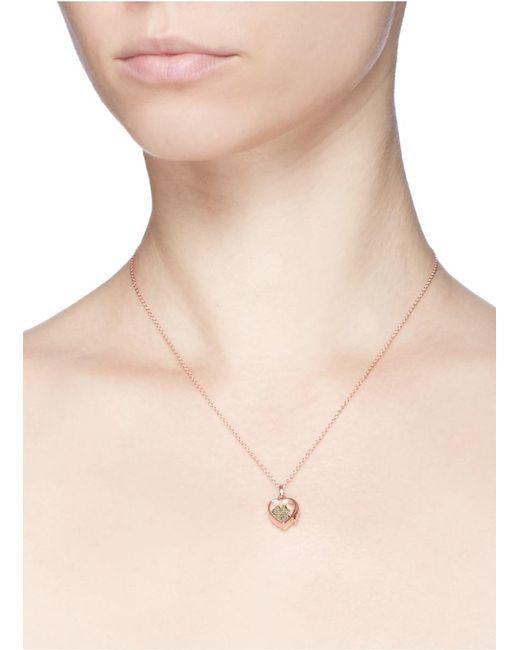 Loquet London Metallic 18k Yellow Gold Diamond Four Leaf Clover Charm - Luck