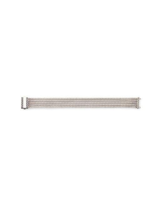 John Hardy - Metallic Five Row Chain Silver Bracelet - Lyst